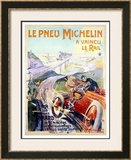 Le Pneu Michelin Framed Giclee Print by Ernest Montaut