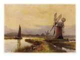 Broads - Drainage Mills Giclee Print