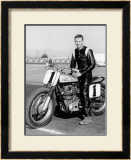 Gold Star Flat Track Framed Giclee Print by Dan Mahoney
