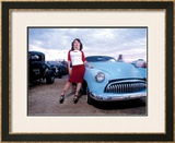 Pin-Up Girl: Rock a Billy Chop Top Framed Giclee Print by David Perry