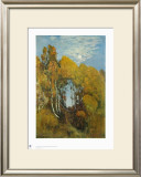 Autumn Forest in the Moon Light Print by Eugen Bracht