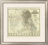 Official Guide Map of City and County of San Francisco, c.1873 Framed Giclee Print by A. L. Bancroft