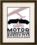 Motor Comptoir Framed Giclee Print by Otto Baumberger