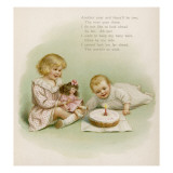 Baby's First Birthday Party, with Elder Sister and Doll Giclee Print