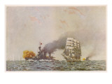 Battle of the Falklands Giclee Print
