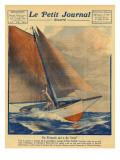 Alain Gerbault Sails Giclee Print