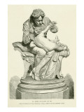 A Statue of Edward Jenner Inoculating His Son Against Smallpox Giclee Print