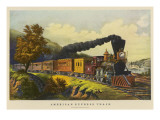 An American Express Train at the Time of the Civil War Giclee Print