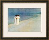 Promenade a la Plage Prints by Peder Severin Kröyer