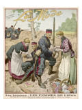Allied Soldiers are Tended and Fed by the Women of Liege in the Opening Months of the War Giclee Print