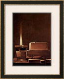 Kerze und Bucher Candlelight Study Print by Georges de La Tour
