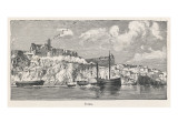 A View from the Sea Toward the Island of Ibiza Giclee Print