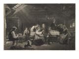 A Swedish Farmhouse Interior Giclee Print