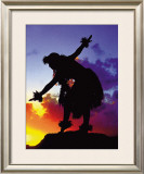 Red Sunset Framed Giclee Print by Ronald Laes
