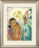 Cereus Flower Framed Giclee Print by Frank Mcintosh