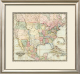 Map of The United States of America, c.1848 Framed Giclee Print by J. H. Colton