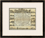 Plano Pintoresco de La Habana, c.1853 Framed Giclee Print by B. & C. May