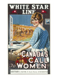 Canadian Call to Women White Star Line Poster Giclee Print