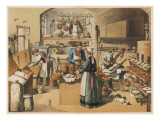 Busy French Bakery Giclee Print