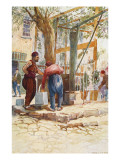 At the Fountain (Well) - Constantinople Giclee Print