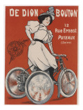 Advertisement for Tricycle De Dion Giclee Print