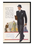 Black Worsted Jacket, Striped Trousers for the Businessman Giclee Print