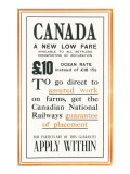Canadian National Railways Poster Giclee Print