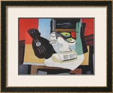 Guitar, Glass and Fruit Posters by Pablo Picasso