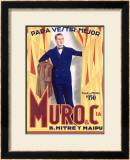 Muro and Cia Framed Giclee Print by Achille Luciano Mauzan