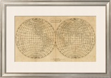 The World, c.1812 Framed Giclee Print by Aaron Arrowsmith