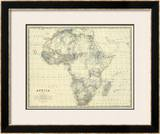 Africa, c.1861 Framed Giclee Print by Alexander Keith Johnston