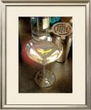 Martini with Lemon Peel Framed Giclee Print by Steve Ash