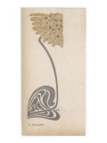 A Stylized, Art Nouveau Depiction of a Flower - Possibly a Dandelion Giclee Print