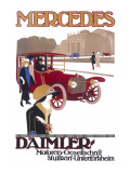 Advertisement for Mercedes Daimler in Stuttgart Giclee Print