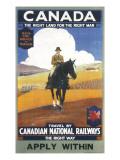 Canadian National Railways Poster Impression giclée