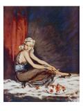 Aluminium Blonde Giclee Print by David Wright