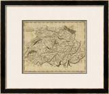Switzerland, c.1812 Framed Giclee Print by Aaron Arrowsmith