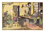 Boy at Tailor's Shop Giclee Print