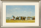 Figures On Beach Prints by Eugène Boudin