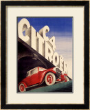 Citroen C4 Automobile Framed Giclee Print