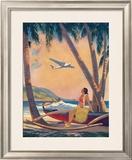 Hawaiian Hula Girl Fantasy Poster by Frederick Heckman
