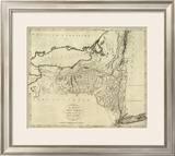 State of New York, c.1796 Framed Giclee Print by John Reid