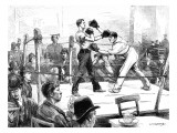 Boxing Match at a Men's Club, London, 1889 Giclee Print