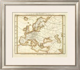 Karte Von Europa, c.1837 Framed Giclee Print by Heinrich Berghaus