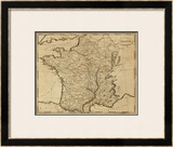 France, c.1812 Framed Giclee Print by Aaron Arrowsmith