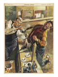 Attempted Bank Raid 1959 Giclee Print