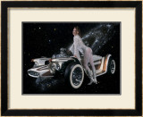 Cosmic Pin-Up Girl Framed Giclee Print by David Perry
