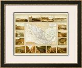 Vias de Comunicacion y Movimiento Maritimo, c.1885 Framed Giclee Print by Antonio Garcia Cubas