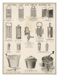 An Assortment of Graters,Cake and Breadmakers Giclee Print
