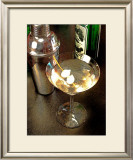 Martini with Two Onions Framed Giclee Print by Steve Ash
